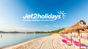 £100 Off Per Person on Holidays with Email Sign up at Jet2holidays