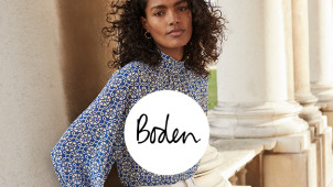 20% Off Plus Free Delivery & Returns on Orders Over £30 and Free New Customer Gift at Boden