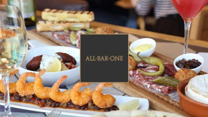 2 Courses for £10 with Pre-Bookings at All Bar One