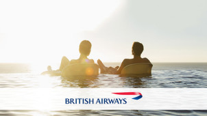 €5 Off Selected Flights with 500 Avios Points at British Airways