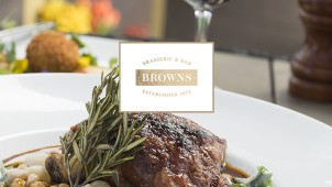 25% Off Food at Browns Brasserie and Bar