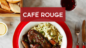 50% Off Your Main Plus Choice of a Beer, Wine or Soft Drink at Café Rouge