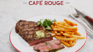 2 for 1 on Starters, Mains & Desserts at Cafe Rouge