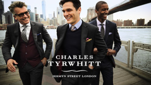 Suits from $489 at Charles Tyrwhitt