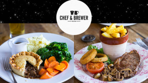 Black Friday! Buy 1 Get 1 Free on Mains at Chef and Brewer