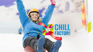 10% Off Beginner Ski and Snowboard Lessons at Chill Factore