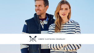 20% Off New In Plus Free Delivery + Returns at Crew Clothing