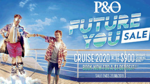 Just $1 deposit for select P&O cruises and up to $1000 on board credit!