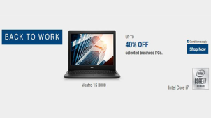 Save Up to 40% + Bonus 8% on Office & Home Laptops at Dell