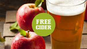Free Cider with a Main Meal at Selected Locations