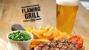 20% Off Total Bill inc.drinks at Flaming Grill Pubs
