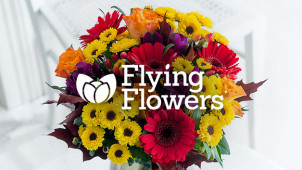 £5 Off Orders Over £30 at Flying Flowers