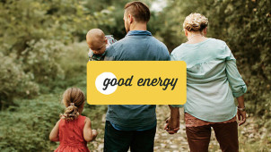 100% Renewable Electricity & Green Gas Tariff from £68pm at Good Energy