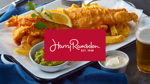 2nd Main for 90p at Harry Ramsden's Restaurant