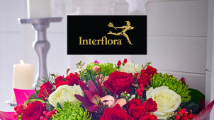 Free Vase with Selected Bouquet Orders at Interflora