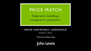 Great Savings Across Home, Fashion and Beauty in the John Lewis Price Match