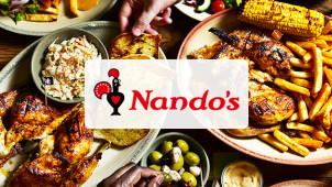 £5 Off! Save £2.50 on Your First 2 Nando's Takeaway Orders with Deliveroo