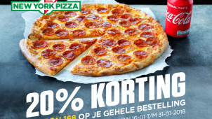 20% Korting op je bestelling bij New York Pizza