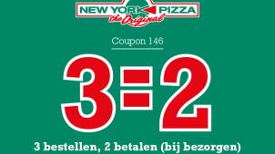 Ontvang je Derde pizza gratis bij New York Pizza