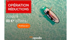 -80€ de réduction dès 1000€ d'achats chez Opodo
