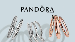 65% Off Pandora Silver Eternity Pink Cubic Zirconia Ring at The Jewel Hut