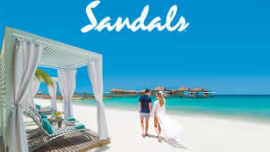 2 for 1 Sale on Amazing Getaways at Sandals Holidays