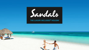 £90 Gift Card with Upfront Bookings Over £3000 at Sandals Holidays
