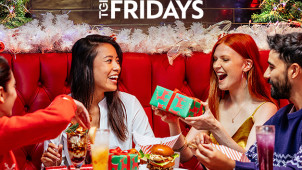 Pre-Book Now! 3 Course Christmas Set Menu from £21.99 Plus 2 for 1 Cocktails* at T.G.I Fridays