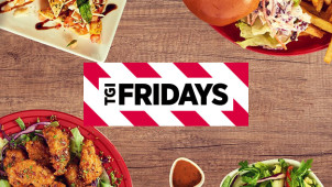 £5 Off! Save £2.50 on Your First 2 T.G.I Fridays Takeaway Orders with Deliveroo