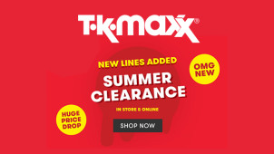 Up to 60% Less on New Season Big Brands at TK Maxx