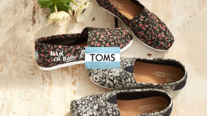 15% Off Orders with Newsletter Sign-Ups at TOMS