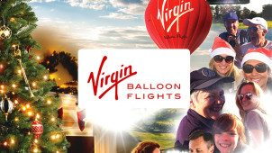 £40 Off Virgin Balloon Flights Christmas Sunset Gift Packages for Two at Virgin Balloon Flights