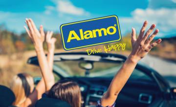 Nu €10 Korting op je huurauto na inschrijving voor de Alamo nieuwsbrief