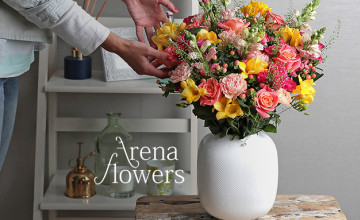Free £5 Voucher with Orders Over £30 at Arena Flowers