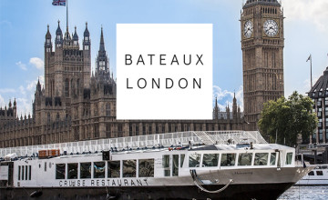Children go for Free on Sunday Family Lunch Cruises with Full Menu at Bateaux London