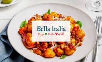2 for 1 on Starters, Mains & Desserts with our Bella Italia Deal 🍴