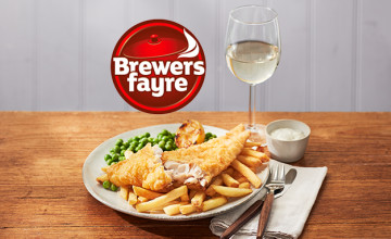 25% Off Your Food Bill with Newsletter Sign-ups at Brewers Fayre