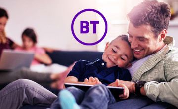 £35 Gift Card with Broadband and TV Orders at BT Broadband