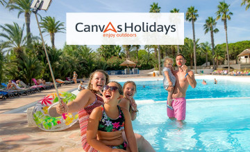 10% Off Bookings with a £1 Kids Pass Trial at Canvas Holidays