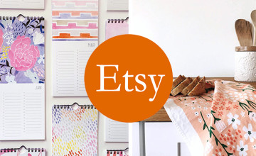 £5 Gift Card with Orders Over £50 at Etsy