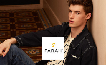10% Off First Orders with Newsletter Sign-ups at Farah