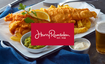 Fish and Chips from Only £10.99 at Harry Ramsden's Restaurant