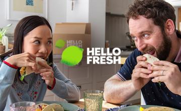 Spare 60 EUR auf 4 Boxen + Gratis Versand bei HelloFresh
