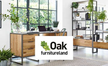 Free £10 Voucher with Orders Over £600 at Oak Furniture Land