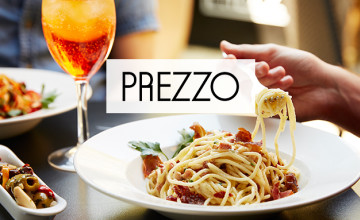 2 for 1 on Starters, Mains & Desserts - Prezzo Deal