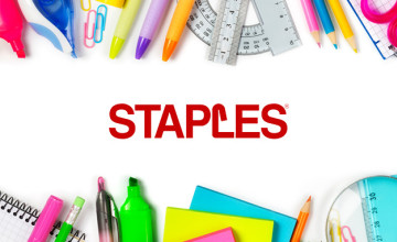 Free £10 Voucher with Orders Over £120 at Staples