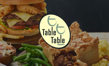 25% Off Food with Sign-ups at Table Table