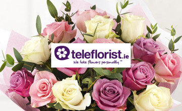 You can get €15 Off + Free Chocolates on the Moonlight Bouquet at teleflorist.ie