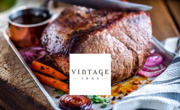 20% Off Food with App Downloads at Vintage Inns