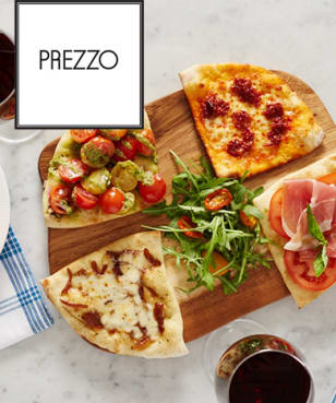 Prezzo - Prezzo - 30% Off Food or Free Starter or Dessert at Prezzo